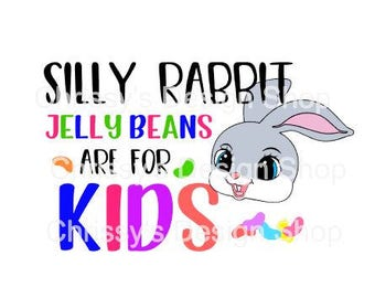 Silly rabbit easter svg / jelly beans svg / bunny svg / dxf / eps / png / easter rabbit svg / bunny clip art / rabbit clip art / scrapbook