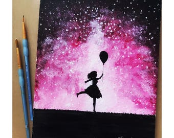 Pink Skies Painting