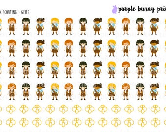 Brown Scouting (Girls) // Planner Stickers!