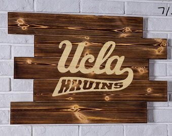 Ucla Bruins Wood Sign Ucla Bruins Wall art Ucla Bruins Gift Ucla Bruins Birthday Ucla Bruins Party wooden