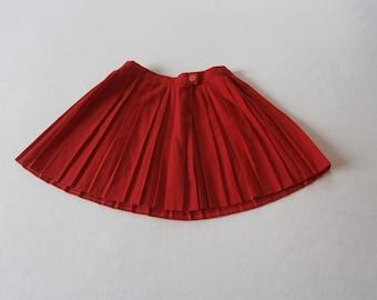 60's Mini Skirt Bright Red