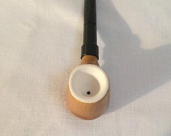 Vintage /new tobacco German ceramic pipe porcelain