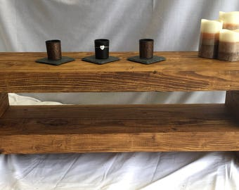 100 cm Tv stand rustic chunky lcd wooden