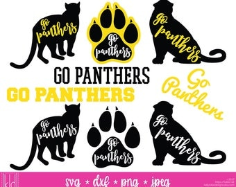9 Panther svg - Go Panthers - Panther Football - High School or Little League Team - Panthers svg - Panther Baseball