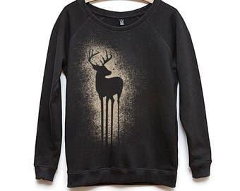 Deer - crew neck - women