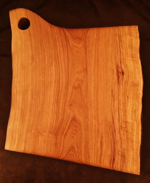 Large Live Edge Cherry Cutting Board