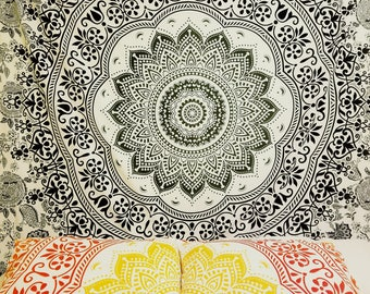 Mandala Tapestry,  Mandala Bedding, boho bedding, dorm room, hippie bedding, Hippie tapestry, mandala wall tapestry, wall tapestry