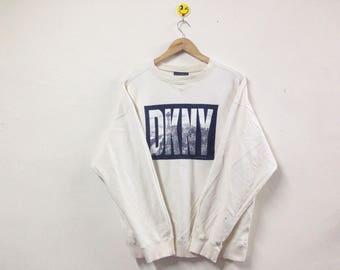 Rare!!! DKNY Donna Karan New York Sweatshirt Big Logo Designer Fashion