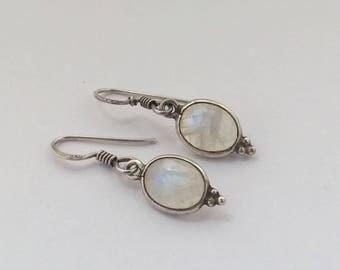 A Pair of Moonstone Drop Earrings