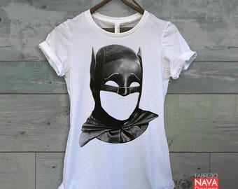 Adam West The Sad Batman RIP Graphic Womens Tee Tribute Tshirt DC