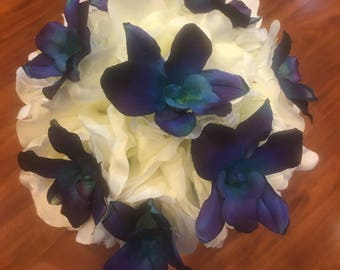Blue Orchid Bouquets, Bouts, Corsages and Hair Clips