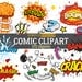 Comic text,  Superhero clipart, Speech bubbles, Comic clipart, Superhero text, Superhero bubbles, Comic bubbles, Comic clip art