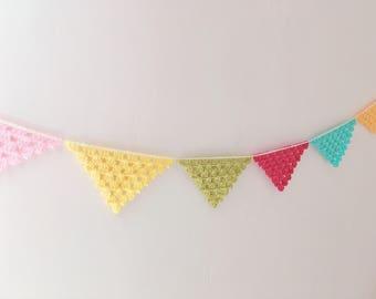 Crochet Bunting | Crochet Garland | Wall Decor | Nursery Decor | Photo Prop | Crochet