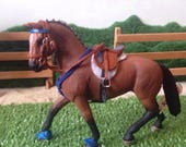 Handmade English Riding set with schleich horse