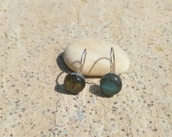 Boucles d'oreilles Capucine Argent 965/pierre semi précieuse/Labradorite