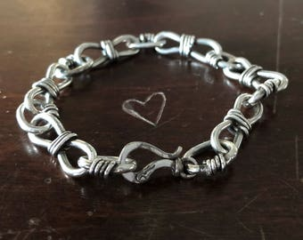 Men's Sterling Silver Chain Bracelet