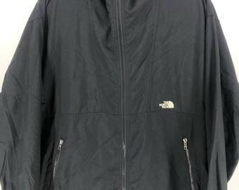 Vintage THE NORTH FACE Jacket Mens Medium North Face Ski Wear Black Jacket Hoodie North Face 90s Skiing Hooded Jacket Bomber Size M #A897