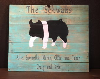 Show pig, show pig board, livestock decor, FFA, 4H show pig, wooden sign, farmhouse decor, outdoor sign