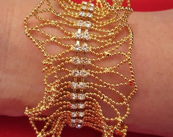 JOAN RIVERS Crystal Lace Bracelet