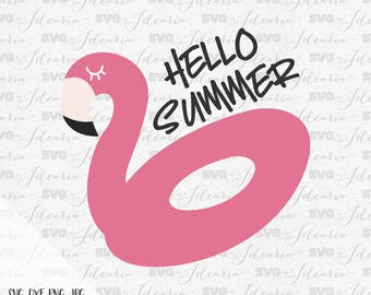 Flamingo svg, hello summer svg, Summer Svg, sunglasses svg, Beach svg, svg files, svg files for cricut, svg files silhouette, summer trend