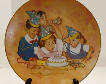 """Vintage Norman Rockwell """"Birthday Party"""" Collector's Plate"""