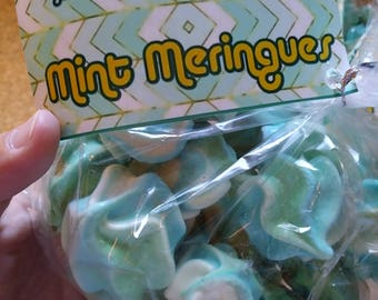 Fresh Mint Meringues - naturally gluten free, and fat free!