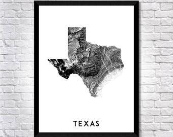 Shadowlands Texas map art   Printable Texas map print, Texas print, Texas poster, Texas art, Texas gift map,  Printable poster, Wall art map