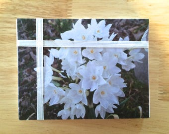 """Handmade Note Cards """"Snow Drops"""" Original Design: 10 Cards and 10 Envelopes - Flowers and Nature Stationery"""