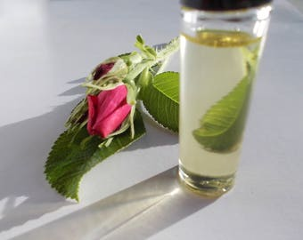 Rose Perfume Oil - Organic Jojoba - All Natural Fragrance - Real Rose Scent - Handmade Roll On Perfume