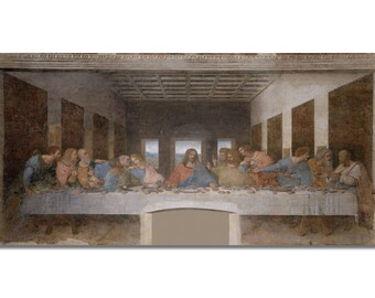 Last Supper, Last Supper Picture, Da Vinci, Last Supper Canvas, Leonardo Da Vinci, Da Vinci Painting, Da Vinci Art, 197