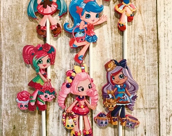 Shopkins Shoppies Cupcake Toppers