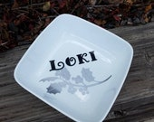 Reserved Custom Listing -- Large Loki Offering Bowl and Mistletoe