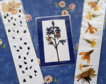 Real Pressed Flower Bookmarks
