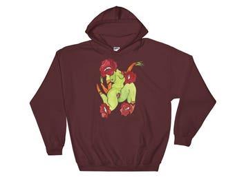 Among the Flowers- Hooded Sweatshirt
