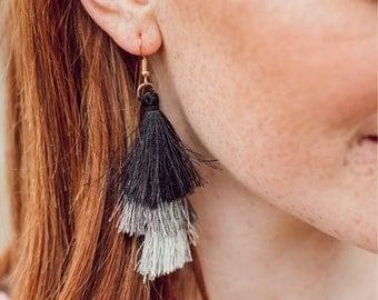 3 Tier tassle earrings