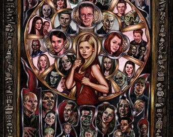 "Alternate ""If The Apocalypse Calls, Beep Me"" Buffy Print"