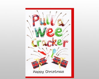 Christmas Pull A Wee Cracker Card WWXM109