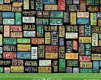 Motorin,Car License plates & ,Quilting Treasures