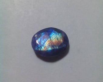 Purple Rainbow Moonstone Faceted Cut Slice
