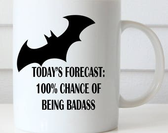 100% Badass Coffee Mug, Boss's Day, Funny Coffee Mug, Office Coffee Mug