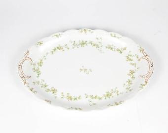 Haviland Limoges Oval Serving Platter Antique, Vintage