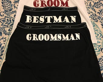 Wedding party boxer briefs