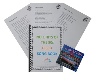 Dementia Activity/Activities - No 1 Hits of the 50s 2xCD and Large Print Song Book