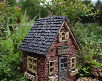 Fairy House, Fantasy Fairy House, Faux Wood Fairy House
