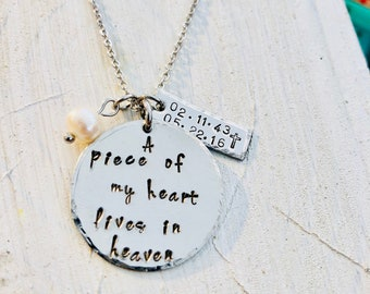 A piece of my heart lives in heaven.