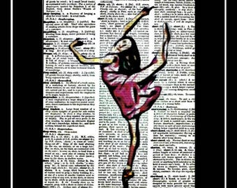 597 Ballerina vintage dictionary art