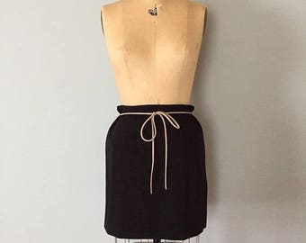 20% OFF SALE... black stretch mini skirt | two side straps skirt | 90s mini skirt