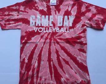 Volleyball Game Day Tie Dye T-Shirt