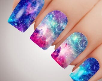 Enchanted Galaxy - ULTIMATE COLLECTION - Full Nail Decal Water Transfer Tattoo #5083