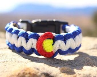 Colorado Paracord Survival Bracelet custom